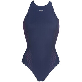 arena Masami Embrace Back One Piece Badpak Dames, navy/navy